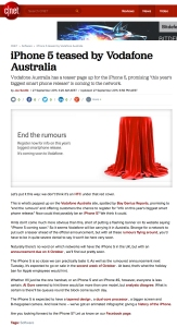 CNET iPhone Rumours - Tim Tayyar, freelance copywriter