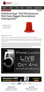 Apple Fan Site iPhone Rumours - Tim Tayyar, freelance copywriter