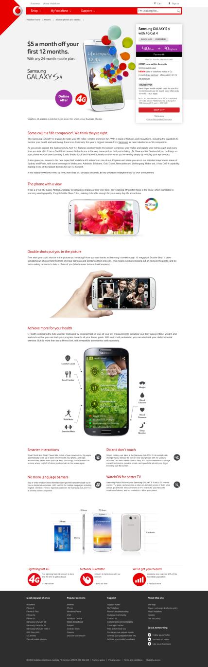 Vodafone-Australia_Samsung_GALAXY_S4 - Tim Tayyar, freelance copywriter