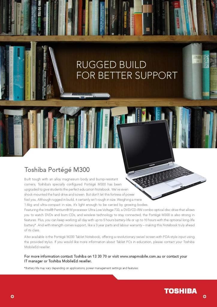 Toshiba print ad - Tim Tayyar, freelance copywriter