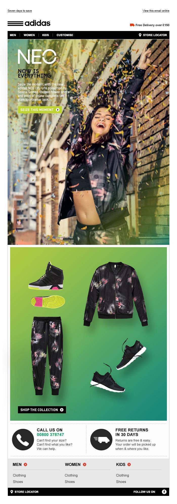 adidas NEO Selena Gomez - Tim Tayyar, freelance copywriter